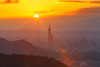 _41A5961-flickr (Shirley 's 攝影世界) Tags: 夕陽 sunset shirley老師 汐止 汐止大尖山 台北城 101 taipei101 台北101 星芒 小白二代 canon5d3 sunpower