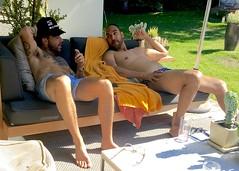 IMG_6224 (danimaniacs) Tags: shirtless man guy hot sexy beard scruff tattoo shorts friends swimsuit trunks