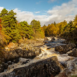 River Cassley in autumn thumbnail