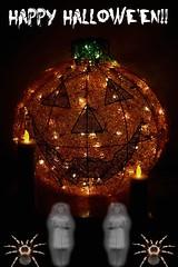 Jack-O-Lantern And LED Candles Ready For Halloween 002 (Chrisser) Tags: jackolanterns jackolantern candles ontario canada canoneosrebelt6i canonefs60mmf28macrousmprimelens halloween specialholidays lens00025 digital picmonkey