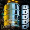 Golden Fins (Mark Lindstrom) Tags: berlin architecture modern urban yellow linkstrasse potsdamerplatz olympusomdem5mkii olympus1240f28 m4u microfourthirds