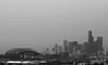 Seattle Skyline (Smcabel) Tags: city seattle washington grey sky skyline cityscape buildings skyscrapers seattlewashington washingtonstate usa unitedstates unitedstatesofamerica blackandwhite safecofield baseball football centurylinkfield baseballfield footballfield smithtower spaceneedle