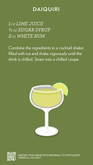 Daiquiri, check out more cocktails at http://ift.tt/2dslAbC (cocktailflashcards) Tags: highball cocktail daiquiri lime juice sugar syrup white rum classic