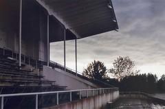 Töölö Rowing Stadium (ture360) Tags: yashicafx70 yashicalens ml50mm fujicolorsuperiaxtra400 olympicgames epsonv200 selfscanned helsinki lightleak