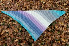 2017.10.07. katia paint huivi 3288m (villanne123) Tags: 2017 shawl scarf wrap huivit handknitted handknit knitting katiapaint neulottu villanne