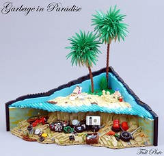 Garbage in Paradise (5 of 5) (Emil Lidé) Tags: lego moc garbage paradise beach ocean palm tree sandcastle trash pollution swebrick contest