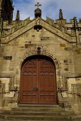 Entrance  At St Marys Church Mold Flintshire North Wales Oct 2017 (mrd1xjr) Tags: entrance at st marys church mold flintshire north wales oct 2017