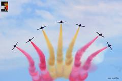 In memoriam (Jose Luis Ogea) Tags: sky avión aircraft patrullaaguila españa bandera