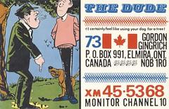 The Shepherd: The Dude - Elmira, Ontario (73sand88s by Cardboard America) Tags: vintage qsl qslcard cbradio cb theshepherd dog ontario