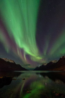 yesterdays light show in the fjord