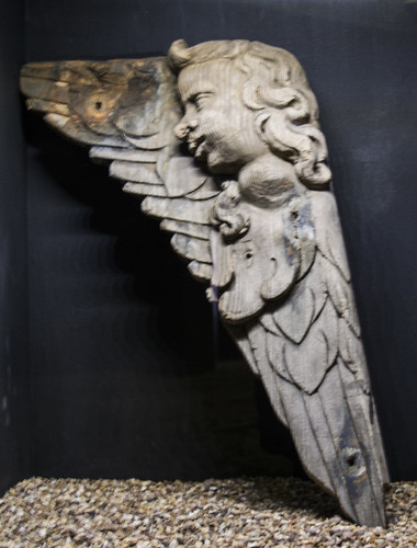 "Wood sculpture from the ship ""Kronan"""