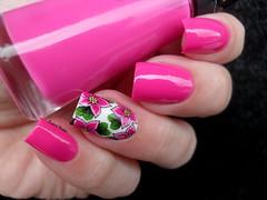 Brilho Ativo - Fantasia (Barbara Nichols (Babi)) Tags: rosa pink pinknailpolish pinknails fantasia flores películas brilhoativo nailpolish nails nailart outubrorosa