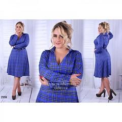 Платье-рубашка большой размер электрик+клетка (arrkareeta) Tags: одежда платье dress woman 2016 2012