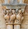 DSC8804 Capitel de la arquería ciega, Iglesia de San Esteban, siglo XII, Moradillo de Sedano (Burgos) (Ramón Muñoz - ARTE) Tags: iglesia de san esteban siglo xii moradillo sedano burgos arte románico arquitectura románica templo escultura pantocrátor