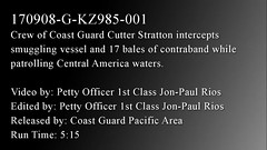 Coast Guard drug interdiction (Coast Guard News) Tags: cutter drugs cocaine interdiction uas offload suspects unmannedaerialsystem coastguard southerncommand drone stratton bust coke operationmartillo transnationalorganizedcrime
