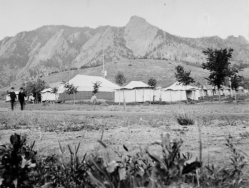 Photo - Tents at the Colorado Chautauqua grounds (c. 1898).