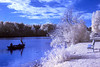Homer Lake infrared (ConstanceiS) Tags: infrared landscape lake blue red people photo photography photographers fishing frog picnic