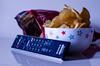 280 ~ 365 (BGDL) Tags: lightroomcc nikond7000 bgdl high5~365 niftyfifty afsnikkor50mm118g remotecontrol crisps chips bowl packet movienight