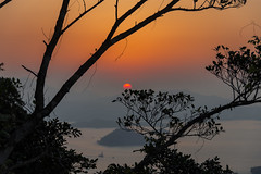 sunset hong kong (Greg Rohan) Tags: sunset sun orange red china hongkong asia photography d7200 2017 sky mountain landscape water foliage tree