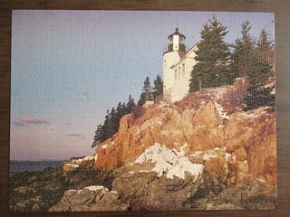 MB Puzzle 4335-16 Bass Harbor, ME - jigsaw