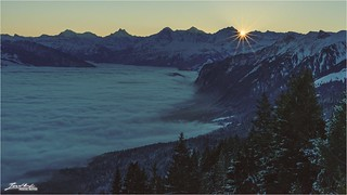• sunrise in the swiss mountains •