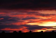 Warm Sunrise..x (Lisa@Lethen) Tags: sunrise warm autumn cloud sun bales hay field farm land nature weather