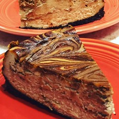 Double Mocha Hot Fudge Cappuccino marbled Cheesecake ! (steamboatwillie33) Tags: cheesecake mocha hotfudge cappuccino baked homemade 2017 kitchen delicious hubbybirthday todeliciousnottomakeoverandover food dessert amazing