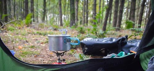 Breakfast during wildcamping