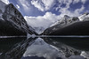 First snow, Lake Louise, Alberta (I saw_that) Tags: lake louise alberta rockies rocky mountains reflection water aqua blue agua cool cool2 cool3 uncool uncool2 uncool3 cool4 cool5 cool6 uncool4 uncool5 uncool6 cool7 cool8 iceboxcool