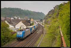 Crossrail 185 536, St. Goarshausen 21-04-2017 (Henk Zwoferink) Tags: sanktgoarshausen rheinlandpfalz duitsland de henk zwoferink rhein am traxx bombardier crossrail xrail 185 536