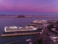 San Francisco (davidyuweb) Tags: sfist sanfrancisco 三藩市 crusieship double cruise ship san francisco bay sunset colors