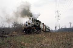 US NJ Whippany - Morris County Central 385 - MCC-WhippanyRwyMus - 5-1-1966.tif (David Pirmann) Tags: whippany newjersey nj morriscountycentral 385 whippanyrailwaymuseum steam locomotive train railroad earlegil morristownerie southernrailway385 virginiablueridge6 baldwinlocomotiveworks baldwin 280 foundphoto