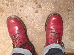 Docs unfurled (Garibaldi McFlurry) Tags: ankle cuff cuffed 511 levis levi cherryred red feet shoes boots docmartens docs