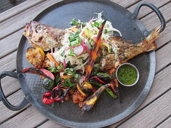 Sanctuary Beach Resort Salt Wood Kitchen Whole Red Snapper (Nancy D. Brown) Tags: sanctuarybeachresort wholefish redsnapper saltwoodkitchenandoysterette saltwoodkitchen marina california