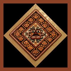 Ai apaec (ejhrap) Tags: aiapaec tile god deity square mochica moche