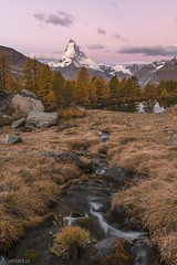 Dawn at the Matterhorn - Zermatt (Captures.ch) Tags: zermatt wallis valais matterhorn water tree switzerland swiss sunrise sky river mountains morning landscape lake hills forest fall dawn clouds capture alps wolken wasser wald sonnenaufgang see schweiz morgendämmerung morgen landschaft hügel himmel herbst gras fluss berge baum aufnahme alpen