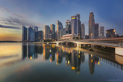 FLAMBE (ChieFer Teodoro) Tags: canon 6d 1635mm lee filter polariser graduated neutral density arca swiss gitzo gt2541 landscape cityscape flambe singapore reflection raffles place cbd central business district sunrise