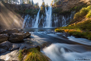 Shining Light at Burney Falls