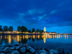 Deventer stadsgezicht (Bart Ros) Tags: ifttt 500px sky water reflection river blue light tower urban lights holland netherlands longexposure deventer nederland ijssel langexposure iojssel overijssle