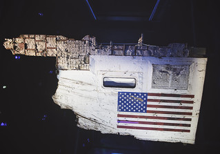 Section of the Space Shuttle Challenger's left fuselage - Kennedy Space Center