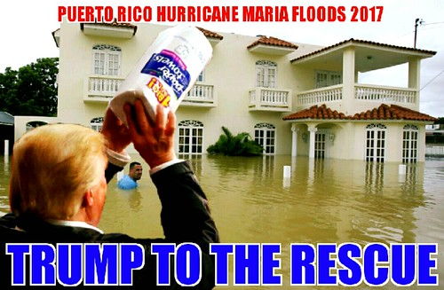 Puerto Rico: Trump Gets There Just In Time (With The Paper Towels).