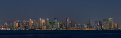 San Diego Skyline (Waldemar*) Tags: usa westcoast california sandiego bay highrises buildings panorama city cityscape citylights skyline urban metro metropolis