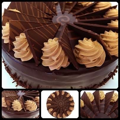 Chocolate Mud Cake layered with chocolate mousse