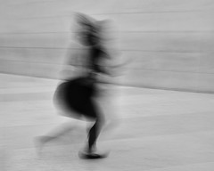 whirling dervish (donvucl) Tags: london britishmuseum highkey bw blackandwhite movement motion blur fujix100f donvucl figure woman