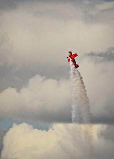Lucas Oil Pitts climbing through clouds 9 23 2017