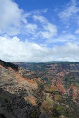 Where dreams are made of... (*~Dharmainfrisco~*) Tags: dharma dharm dharmainfrisco hawaii kauai waimea canyon look out national park usa travel island mountains blue skies sky green waterfall tour 2015