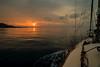 Morning has broken...... (Dafydd Penguin) Tags: mornig has broken sail sailboat sun sea water sunrise yacht yachting cruise coast coastal ocean mallorca balearic islands spain clouds nikon df nikkor 20mm af f2