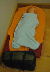 Thermarest on an albergue floor