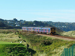 150265 & 150104 Towan Crossing (2) (Marky7890) Tags: gwr 150104 150265 class150 sprinter 2a29 towancrossing stivesbayline railway cornwall train