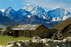 Himalayan House (Kramskorner) Tags: mount everest base camp 2017 katmandu mountains himalayas pumori ama dablam snow capped peaks summit trek trekking hiking high altitude sony a7ii 24240mm landscape sunrise bw